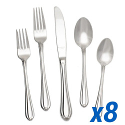 Kyпить Gorham Melon Bud Stainless Flatware - 40pc Service for 8 на еВаy.соm