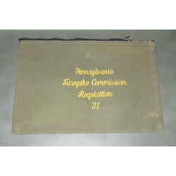 Kyпить Vintage Pennsylvania Turnpike Commission Requisition Bank Bag - Zippered Pouch на еВаy.соm