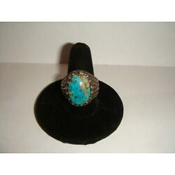 Kyпить Beautiful Unsigned Sterling Silver RING with Turquoise - Size 9.5 на еВаy.соm