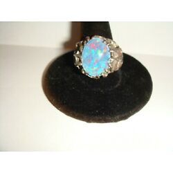Kyпить Beautiful Unsigned Sterling Silver RING w/possibly a Fire Opal ??  - Size 9 на еВаy.соm