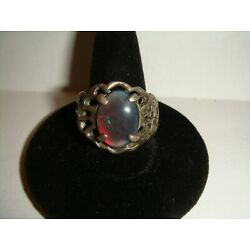 Kyпить Beautiful Unsigned Sterling Silver RING w/possibly a Simulated Stone  - Size 8.5 на еВаy.соm