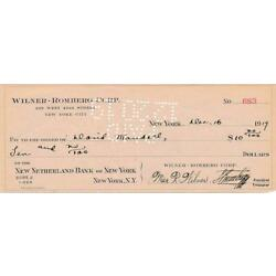 Kyпить Sig Romberg & Max Wilner- Signed Check from 1919 на еВаy.соm