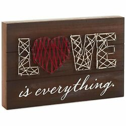 Hallmark 6520084 Love is Everything String Art Wood Sign, 11.75x8'' Plaque 1 PACK