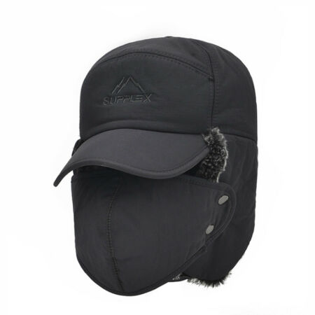 img-Mens Winter Warm Hat Russian Face Mask Earflap Ski Cap Aviator Trapper Outdoor