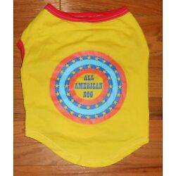 OLD NAVY YELLOW ''ALL AMERICAN DOG'' TEE - SIZE LARGE