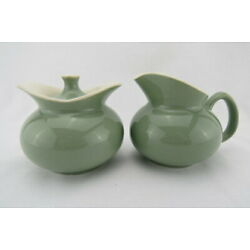 Kyпить Hakerware Sage Green Sugar and Creamer USA Mid Century Modern на еВаy.соm