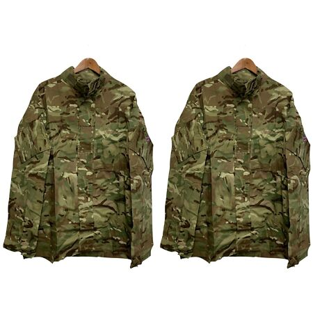 img-MTP CAMO TEMPERATE WEATHER COMBAT SHIRT JACKET - PACK OF TWO , British Army NEW