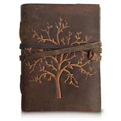 Kyпить LEATHER JOURNAL Tree of Life - Writing Notebook Handmade Leather Bound Daily For на еВаy.соm