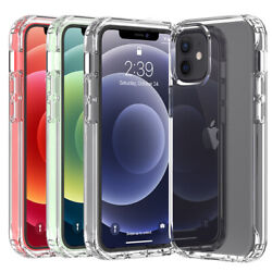 For Apple iPhone 13 Pro Max 11 12 Mini Shockproof Clear Crystal Case Phone Cover