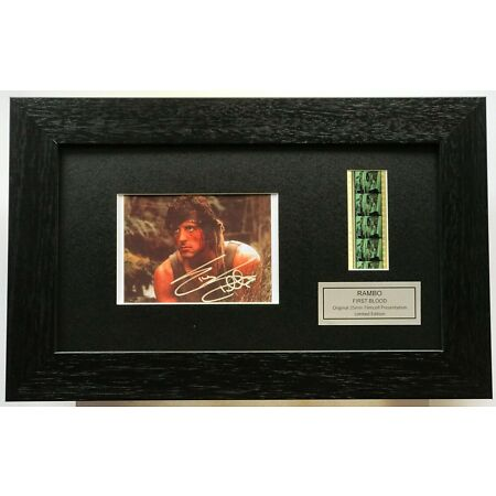 img-RAMBO First Blood SYLVESTER STALLONE repro SIGNATURE Filmcell Memorabilia
