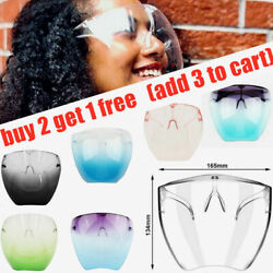 Kyпить Clear Face Shield Face Mask Transparent Reusable Glasses Visor Anti-Fog Full USA на еВаy.соm