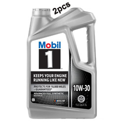 10 Quarts Motor Engine Oil Full Synthetic SAE 10W-30 MOBIL 1 Advanced 122326