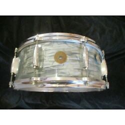 Kyпить Vintage Gretsch Round Badge Snare Drum, Blue Pearl, Early 60s/late 50s Drum! на еВаy.соm