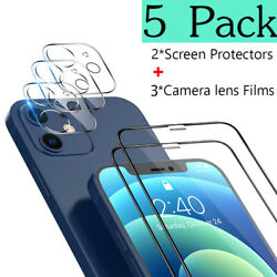 Kyпить 5 Pack For iPhone 12 Pro Max 12 Pro 11 Tempered Glass Camera Screen Protector на еВаy.соm