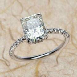Kyпить 3.00 Ct Radiant Cut Solitaire Diamond Engagement Ring In 14K White Gold Finish на еВаy.соm