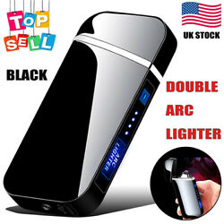 USB Dual Arc Plasma Electric Lighter Flameless Windproof Rechargeable Lighter