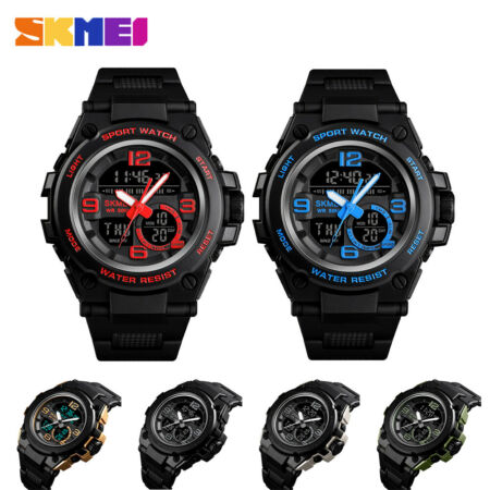 img-Men Women Fashion Sports Digital Wristwatch With Alarm EL Lights Waterproof je
