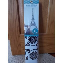 NEW! DCWV Paris EIFFEL TOWER XL Removeable Reusable Wall Decals 81'' x 40'' COOL!