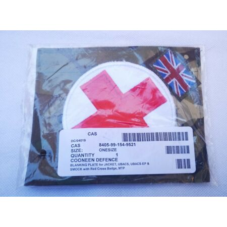 img-NEW MTP CAMO BLANKING PLATE WITH RED CROSS for Jacket Ubac & smock