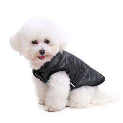 PAWZ Road Pet Clothes Winter Warm Quilted Puffer Jacket/Coat For Dogs -Black