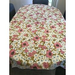 Kyпить VINTAGE TABLECLOTH FLORALS RECTANGLE PREOWNED NICE CONDITION SIZE 114X 82 на еВаy.соm