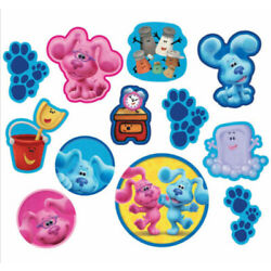 BLUES CLUES Friends Birthday party supplies CUTOUTS 12 wall decorations Magenta