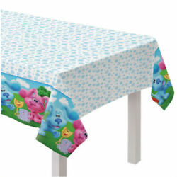 BLUES CLUES Friends Happy Birthday Party paper TABLE COVER 1 tablecloth 54x96