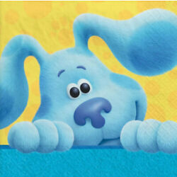 BLUES CLUES Happy Birthday Party supplies beverage PAPER NAPKINS 16pcs 2 ply