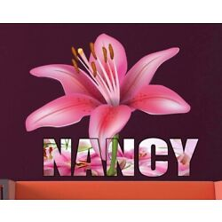 Custom Name Lily Decal, Lily Sticker, Lily Decor, Lily Custom Name Wall Art