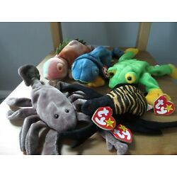 Ty Beanie Babies Batch of 5 reptiles and bugs, (lot #17),  Mint w/ Tag