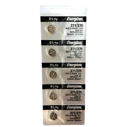 Energizer 371/370 Silver Oxide Multipurpose Battery - 5 Pieces