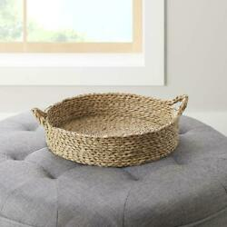 Better Homes & Gardens 16'' Round Natural Colored Water Hyacinth Woven Tray NEW