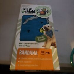 Doggles Insect Shield Mosquito Protection Repellent teal Dog Bandana