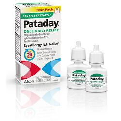 Kyпить Pataday EXTRA STRENGTH Once Daily Relief, Twin Pack Exp.2022+ на еВаy.соm