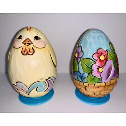 """Kyпить Jim Shore 2"""" Resin Eggs for Basket No Flat Base but Stand Included Ships FREE на еВаy.соm"""