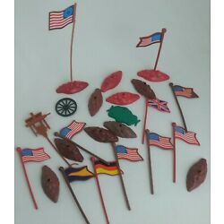 Kyпить Vintage LOT of 11 Plastic Army Men Flags with Stands на еВаy.соm