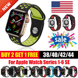 Watch Sport Band For Apple Silicone iWatch Series 6 SE 5 4 3 2 1 38/40/42/44 mm