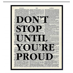 Motivational Don't Stop Dictionary Art, Wall Decor Picture - 8x10 Upcycled Home