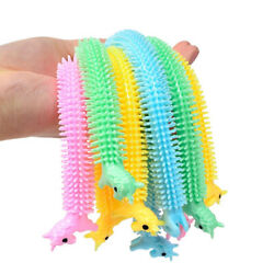 3pcs Worm Noodle Stretch String TPR Rope Anti Stress Toys String Fidget Vent Toy