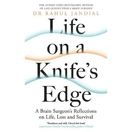 img-Life on a Knife's Edge by Dr Rahul Jandial Hardcover Book Free Shipping!