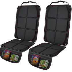 Gimars XL Thickest EPE Cushion Car Seat Protector Mat, 2 Pack Large Waterproof 6