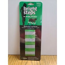 Bright Steps Reflective Leg Bands for Pet Dogs Size Small 15-40lbs 4-18kg Green
