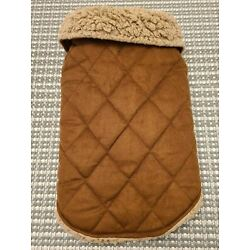 Bee & Willow - Suede and Sherpa Dog Coat--size small to medium-S to M