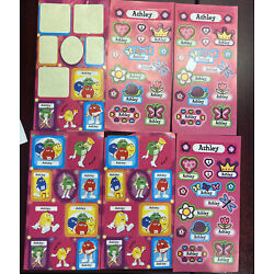 Custom Name Stickers: Lot Of Ashley Stickers - M&M and Flower Princess Themed
