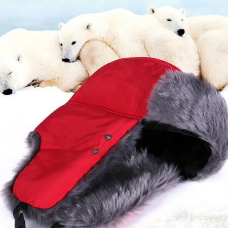 img-Multi-Putpose Winter Cap Trapper Hat Thickened Plush Cap Earflap Windproof Mask