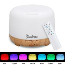 450ml 7 LED Ultrasonic Aromatherapy Aroma Essential Oil Diffuser Air Humidifier