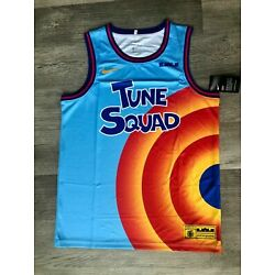 LeBron James Space Jam #6 Tune Squad All-Star Mens Blue Jersey All Size