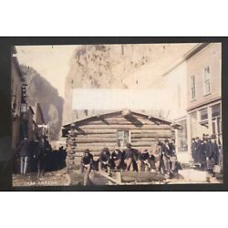 REAL PHOTO CREEDE COLORADO GOLD MINE MINERS DOWNTOWN POSTCARD COPY