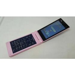 Docomo F-06D Fujitsu Flip Phone Style Series Pink with charger From Japan F/S