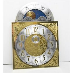 EMPEROR HERMLE 1161 Large Plate Grandfather Clock MOONPHASE DIAL Face w/ Seconds